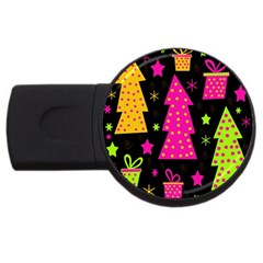 Colorful Xmas USB Flash Drive Round (4 GB)