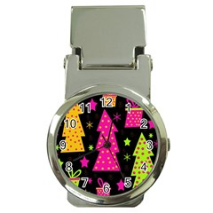 Colorful Xmas Money Clip Watches