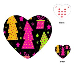 Colorful Xmas Playing Cards (Heart)