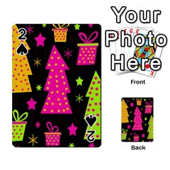 Colorful Xmas Playing Cards 54 Designs