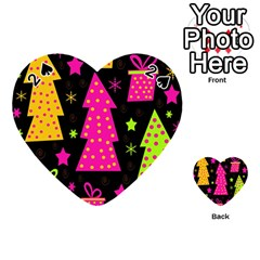 Colorful Xmas Playing Cards 54 (heart)