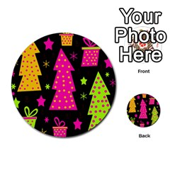 Colorful Xmas Multi-purpose Cards (Round)