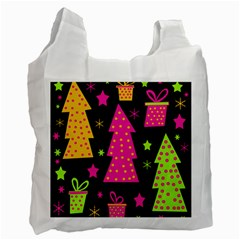 Colorful Xmas Recycle Bag (One Side)