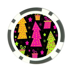 Colorful Xmas Poker Chip Card Guards (10 pack)