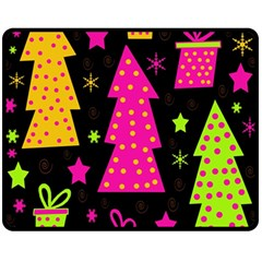 Colorful Xmas Fleece Blanket (Medium)