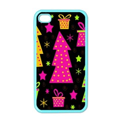 Colorful Xmas Apple iPhone 4 Case (Color)