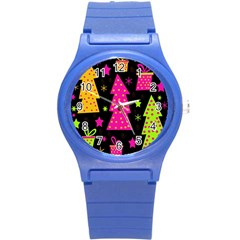 Colorful Xmas Round Plastic Sport Watch (S)