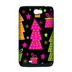 Colorful Xmas Samsung Galaxy Note 2 Hardshell Case (PC+Silicone)
