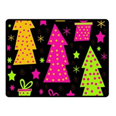 Colorful Xmas Double Sided Fleece Blanket (Small)