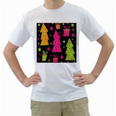 Colorful Xmas Men s T-Shirt (White)