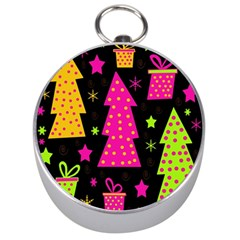 Colorful Xmas Silver Compasses