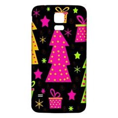 Colorful Xmas Samsung Galaxy S5 Back Case (White)