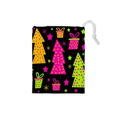 Colorful Xmas Drawstring Pouches (Small)