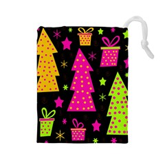 Colorful Xmas Drawstring Pouches (Large)