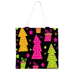 Colorful Xmas Grocery Light Tote Bag