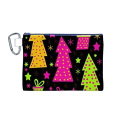 Colorful Xmas Canvas Cosmetic Bag (M)