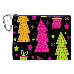 Colorful Xmas Canvas Cosmetic Bag (XXL)