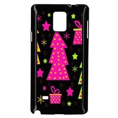 Colorful Xmas Samsung Galaxy Note 4 Case (Black)