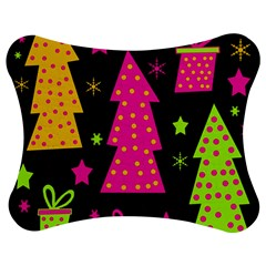 Colorful Xmas Jigsaw Puzzle Photo Stand (Bow)