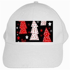 Red playful Xmas White Cap