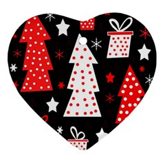 Red playful Xmas Ornament (Heart)