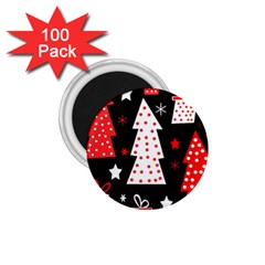 Red playful Xmas 1.75  Magnets (100 pack)