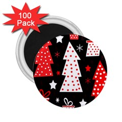 Red playful Xmas 2.25  Magnets (100 pack)