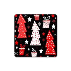 Red playful Xmas Square Magnet