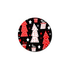 Red playful Xmas Golf Ball Marker (4 pack)