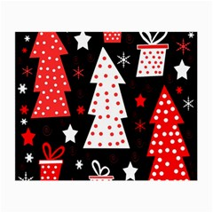 Red playful Xmas Small Glasses Cloth