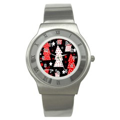 Red playful Xmas Stainless Steel Watch