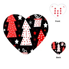 Red playful Xmas Playing Cards (Heart)
