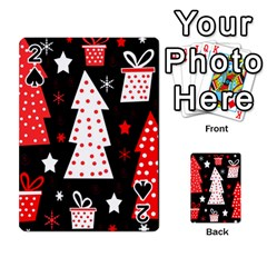 Red playful Xmas Playing Cards 54 Designs