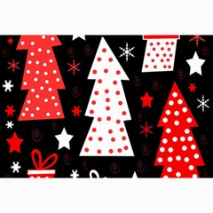 Red playful Xmas Collage Prints