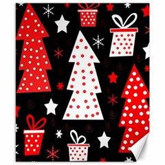 Red playful Xmas Canvas 8  x 10