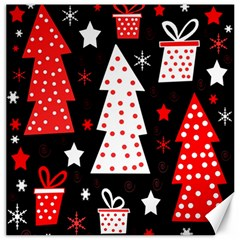 Red playful Xmas Canvas 16  x 16