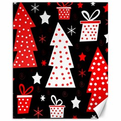 Red playful Xmas Canvas 16  x 20