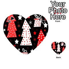 Red Playful Xmas Playing Cards 54 (heart)