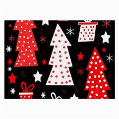 Red playful Xmas Large Glasses Cloth (2-Side)