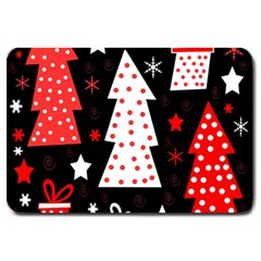 Red playful Xmas Large Doormat