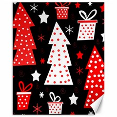 Red playful Xmas Canvas 11  x 14