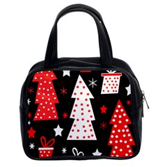 Red playful Xmas Classic Handbags (2 Sides)