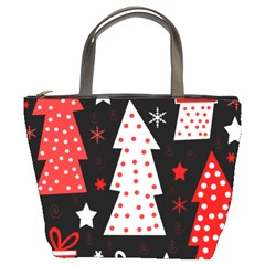 Red playful Xmas Bucket Bags