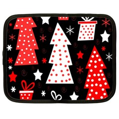 Red playful Xmas Netbook Case (XL)