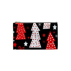 Red playful Xmas Cosmetic Bag (Small)