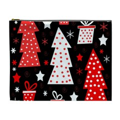 Red playful Xmas Cosmetic Bag (XL)