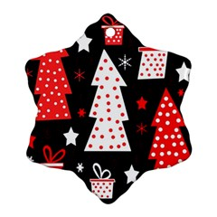 Red playful Xmas Ornament (Snowflake)