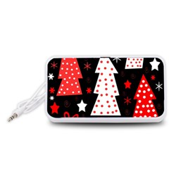 Red playful Xmas Portable Speaker (White)