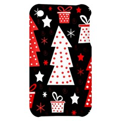 Red playful Xmas Apple iPhone 3G/3GS Hardshell Case