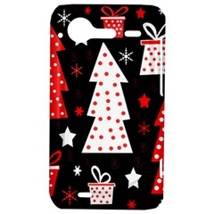 Red playful Xmas HTC Incredible S Hardshell Case